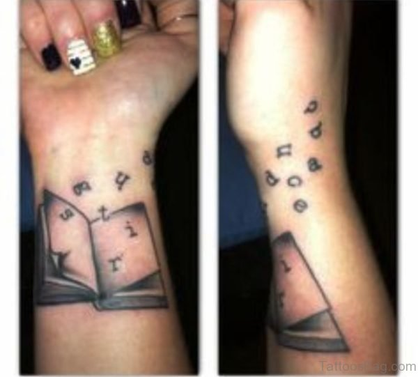 Book Alphabet Tattoo On Wrist