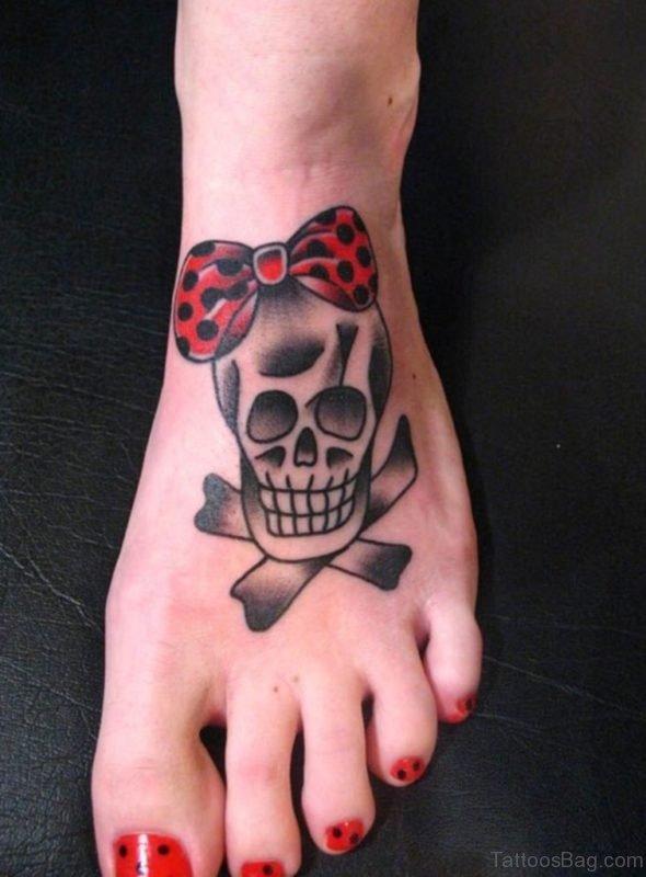 Bow And Skull Tattoo