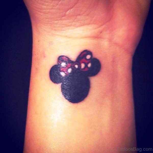Bow On Minnie Mouse Head Design Tattoo