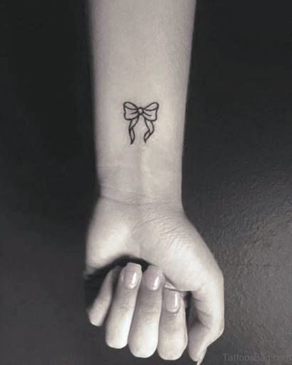 Bow Tattoo On Wrist Image