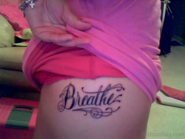 Breathe Word Tattoo