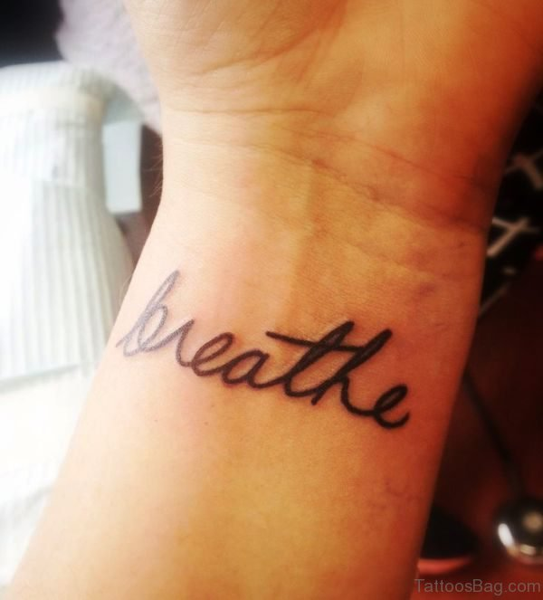 Breathe Wrist Tattoo Design