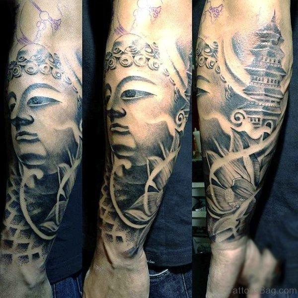 Brilliant Buddha Tattoo Full Sleeve