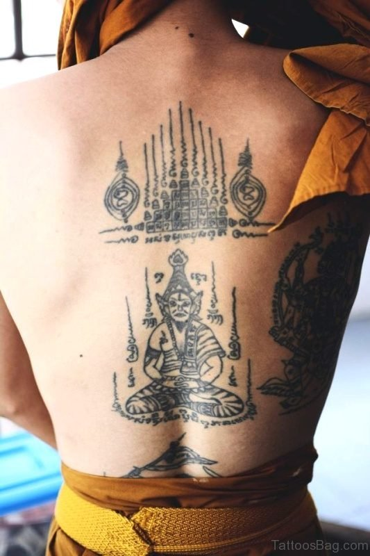 Brilliant Buddha Tattoo On Back