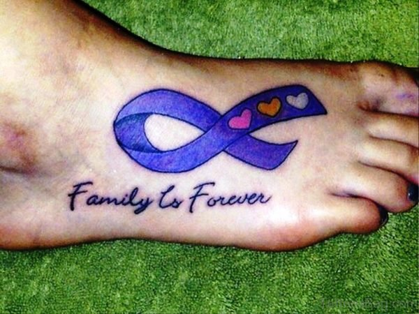 Brilliant Cancer Ribbon Tattoo Design
