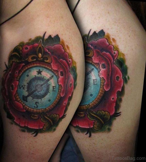 Brilliant Compass Tattoo