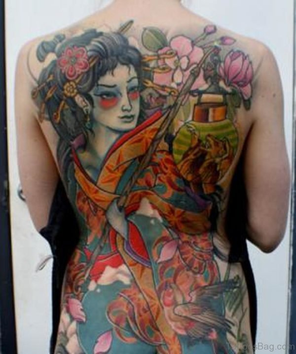 Brilliant Geisha Tattoo