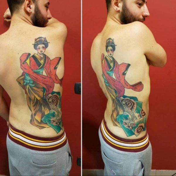 Brilliant Geisha Tattoo Design