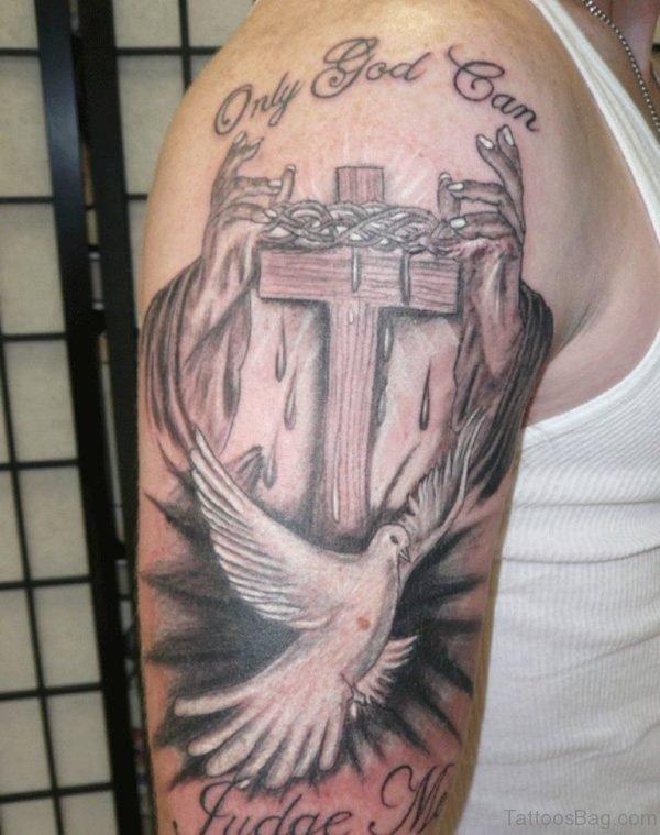 Brilliant Praying Hands Tattoo