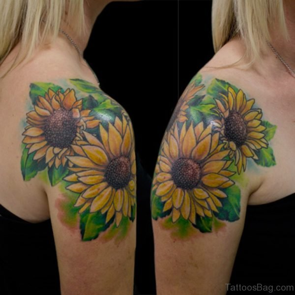 Brilliant Sunflower Tattoo Shoulder