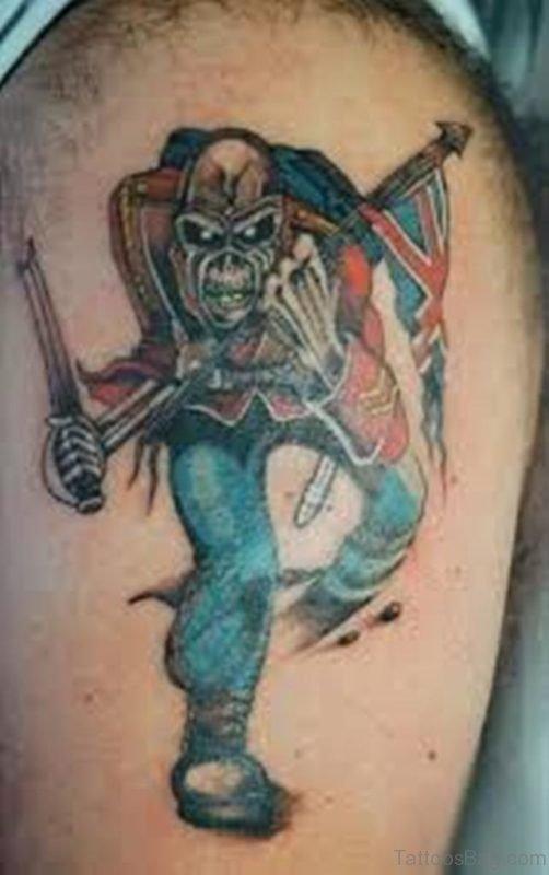 British zombie soldier Tattoo