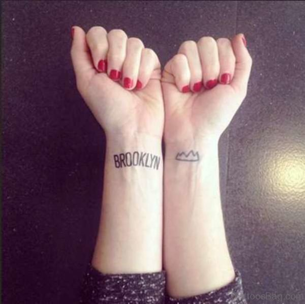 Brooklyn Wrist Tattoo