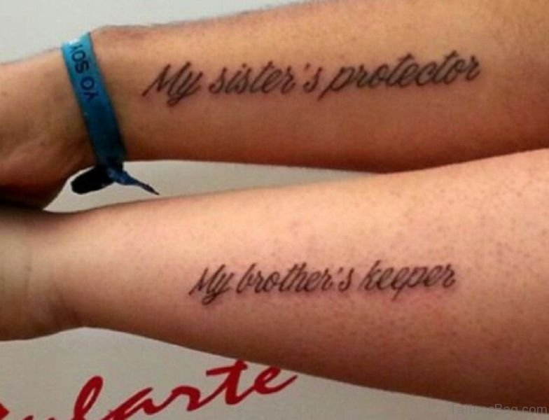 Brother And Sister Tattoos: 11 Lovely Brother Tattoos On Forearm