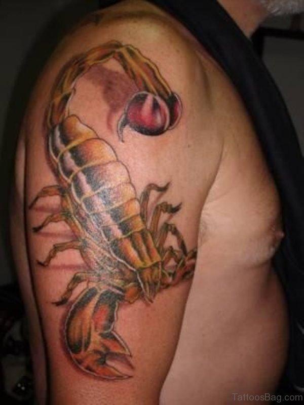 Brown Scorpion Tattoo
