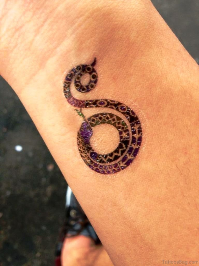 33 magnifying snake tattoos on wrist. Black Bedroom Furniture Sets. Home Design Ideas