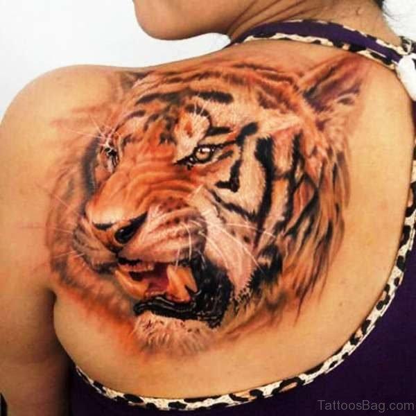 Brown Tiger Tattoo