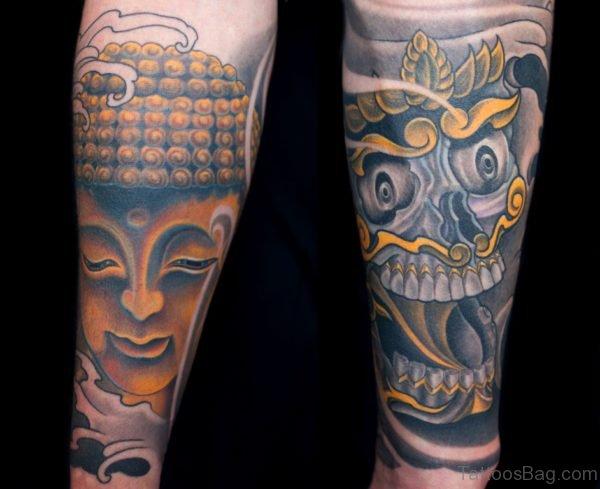 Buddha And Skull Tattoo