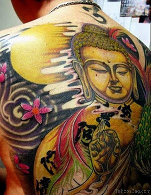 Buddha Back Piece Tattoo Design