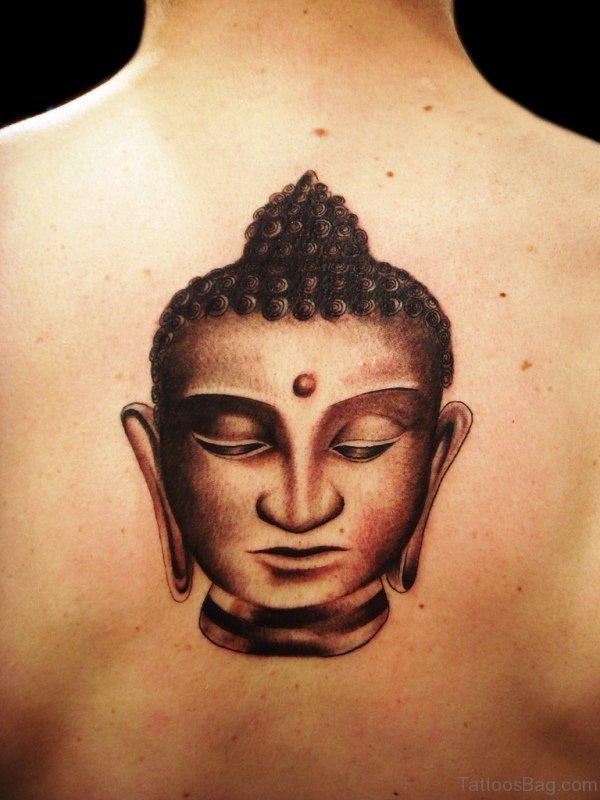 Buddha Face Tattoo Design