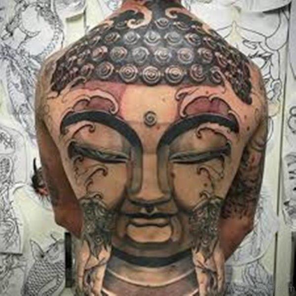 Buddha Face Tattoos on Back