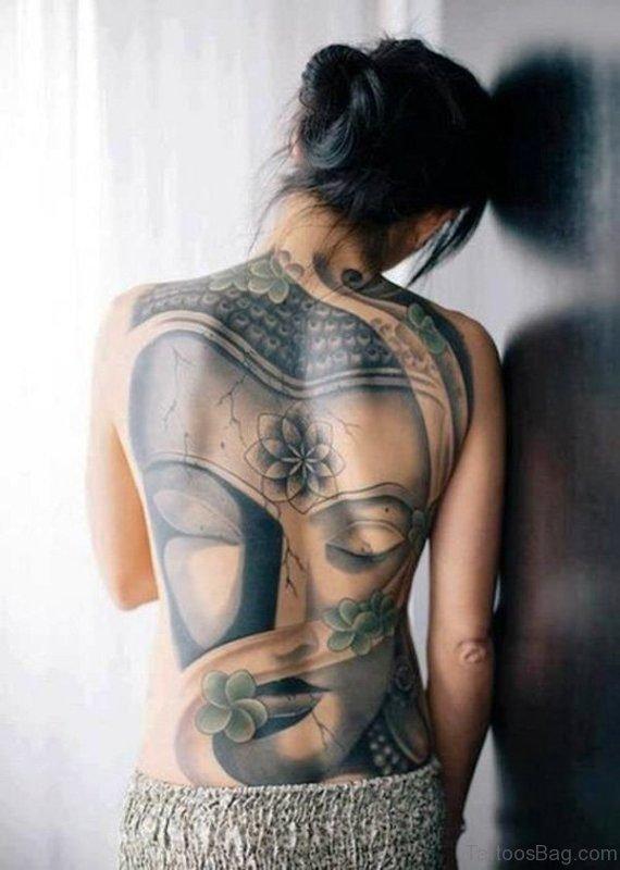 Buddha Portrait Design On Full Back