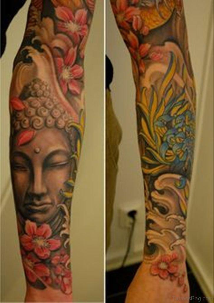 55 new style buddha on sleeve