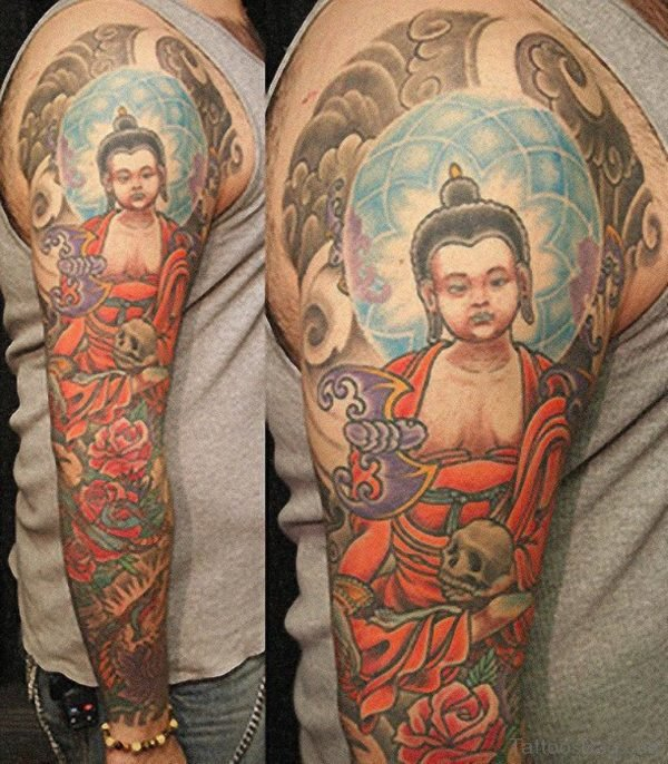 Buddha Tattoo Design For Full Sleeve