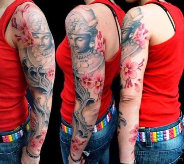 Buddha Tattoo Design For Girls