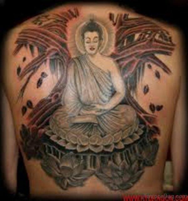 Buddha Tattoo Design On Back