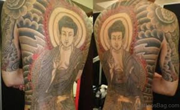 Buddha Tattoo Design On Full Back