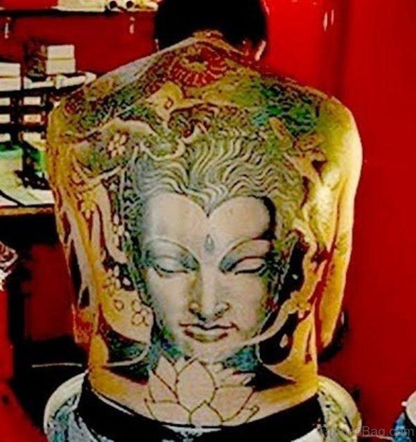 Buddha Tattoo For Full Back