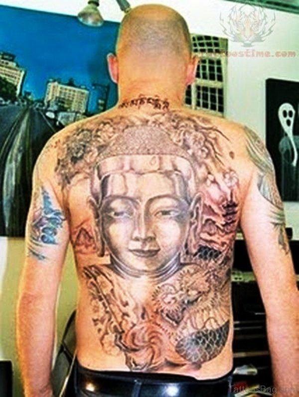 Buddha Tattoo On Back Photo
