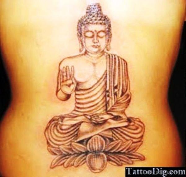 Buddha Tattoo On Back Pic