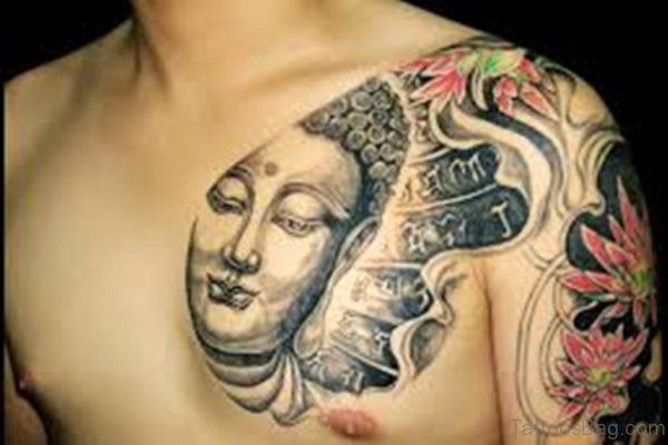 Buddha Tattoo On Chest