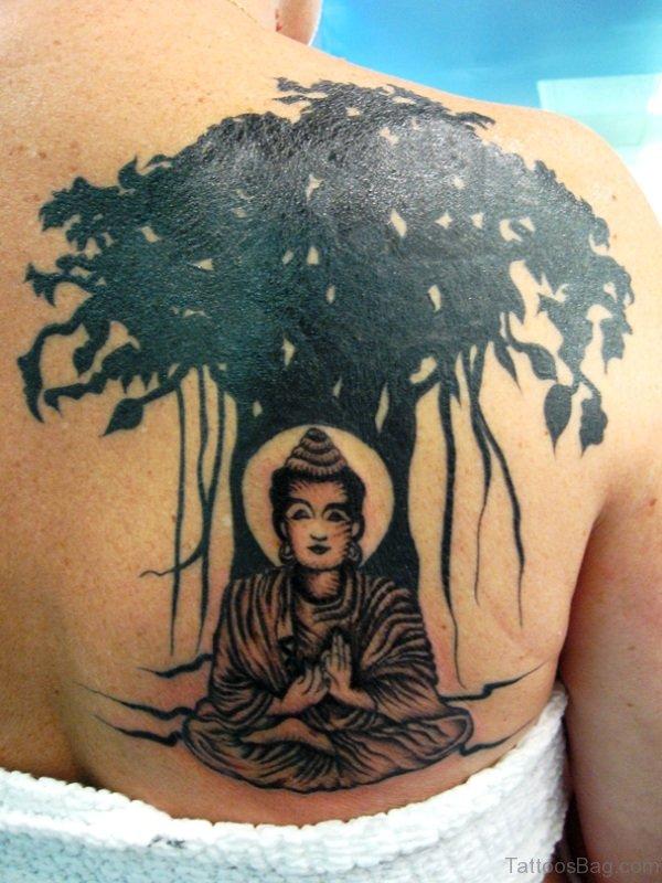 Buddha Tattoo With Tree