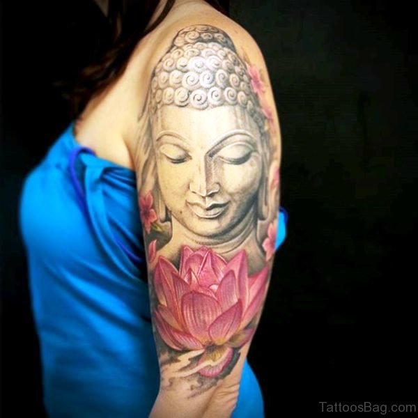 Buddha With Lotus Design For Women