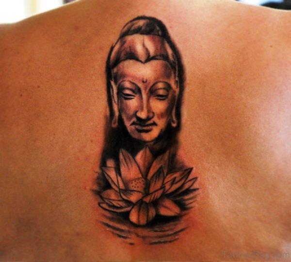 Buddha With Lotus Tattoo Design 1