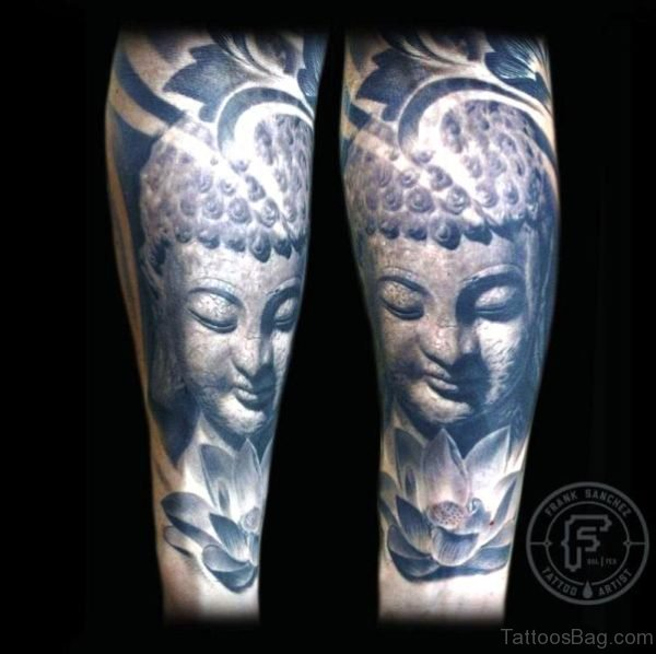 Buddha With Lotus Tattoo Design