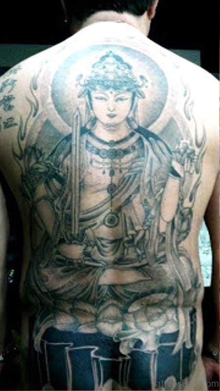 Buddha With Sword On Back