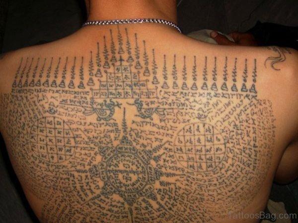 Buddhist Script Tattoo
