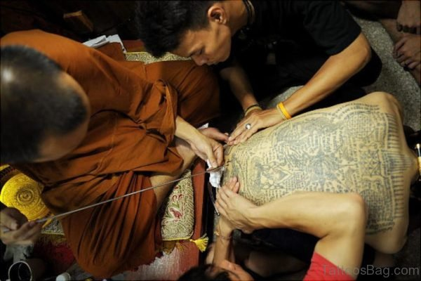 Buddhist Script Tattoo Design