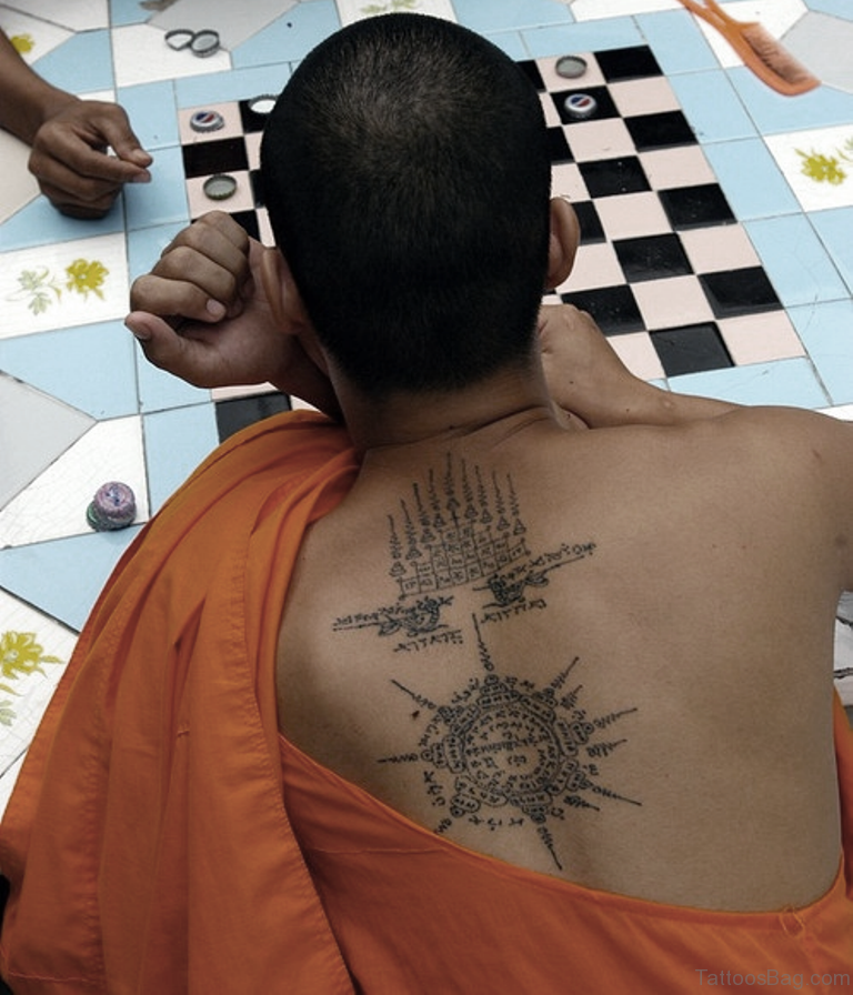 22 Best Buddhist Monk Tattoo On Back