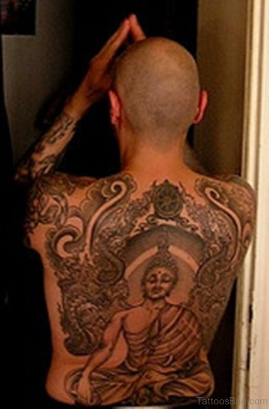 Buddhist Tattoo Design For Back