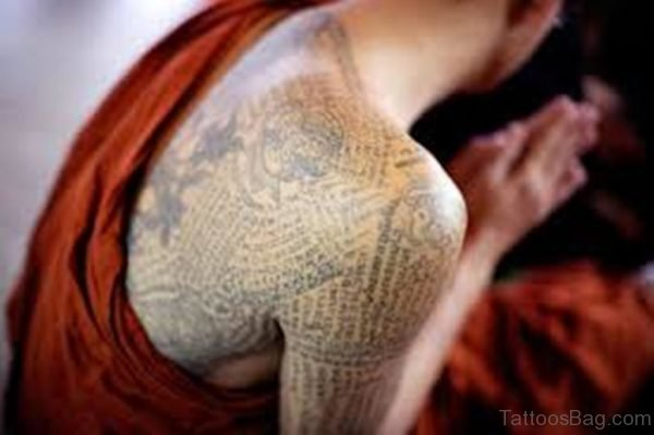 Buddhist Tattoo On Back
