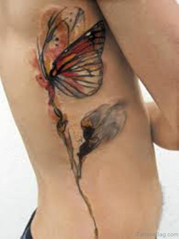 Butterfly And Angel Tattoo