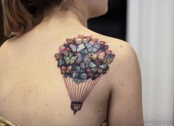 Butterfly Balloon Tattoo