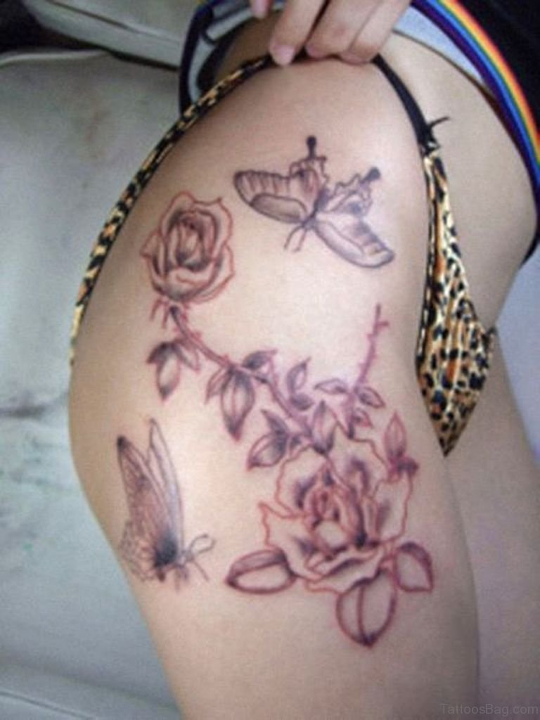 71 pretty butterfly tattoos on thigh for Cute butterfly tattoos