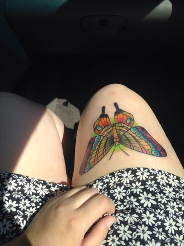Butterfly Tattoo For Women On Thigh