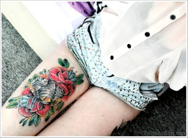 Camera And Rose Tattoo