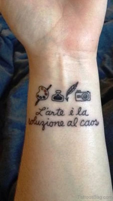 Camera Quote Tattoo On Wrist